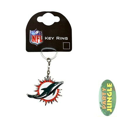 NFL Miami Dolphins Crest Keyring Official Licensed Novelty Gift Accessory