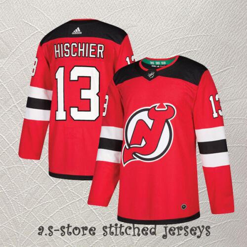 Nico Hischier #13 Hockey Jersey All Sewn Men Red M-3XL New Jersey Devils