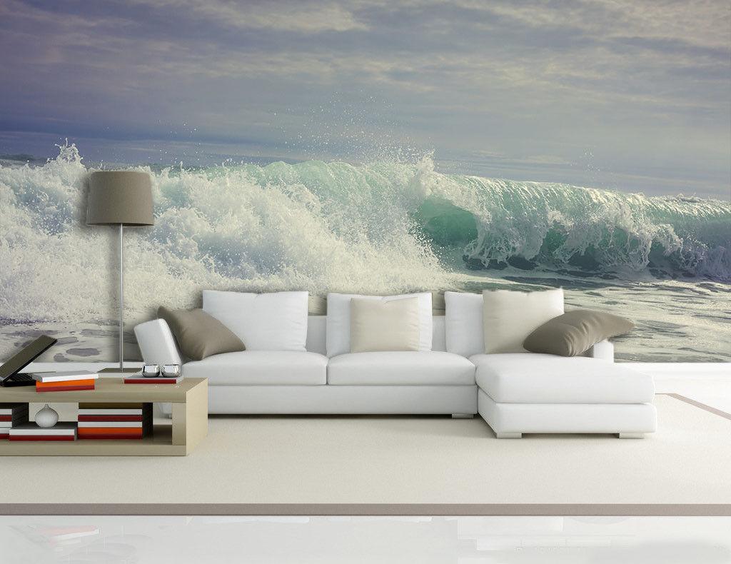 3D Meer Wellen Bild 86 Tapete Wandgemälde Tapete Tapeten Bild Familie DE Summer