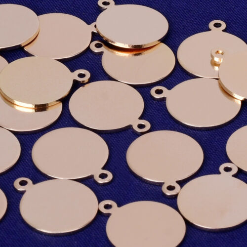 12MM Round Stamping Blanks Coin Charms Disc Charms Ready to Stamp jewelry 20pcs