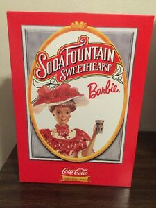Soda Fountain Sweetheart Barbie Coke NRFB Collector Edition in Orignal Shipper
