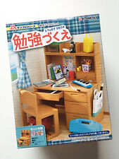 Re-ment School Study Desk 1:6 + Hello Kitty Elementary School Stationary Set #7