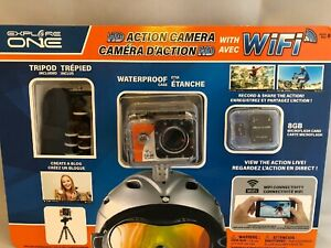 Explore-One-HD-Action-Camera-with-WIFI-8GB-Microflash-Card-amp-Tripod