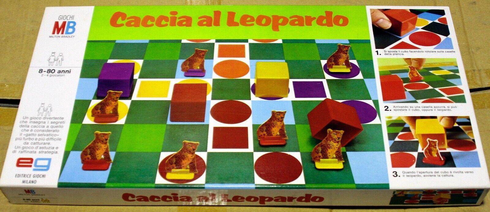 Compra calidad 100% autentica Gioco Gioco Gioco in scatola Caccia Al Leopardo di MB Vintage  calidad de primera clase