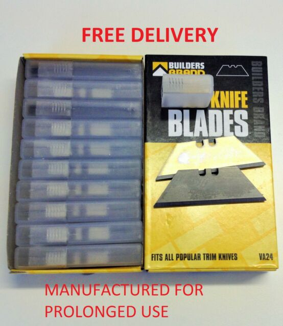 NEW STANLEY BLADES UTILITY KNIFE BLADE QUALITY TRIMMING BUILDERS BRAND