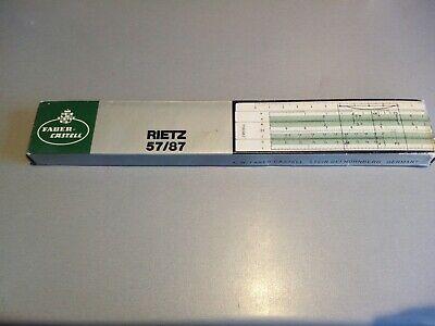 vintage faber castell 57/87 rietz slide rule boxed manual germany   ebay