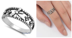 Sterling-SIlver-925-PRETTY-DRAGONFLY-DESIGN-SILVER-BAND-RING-8MM-SIZES-4-10