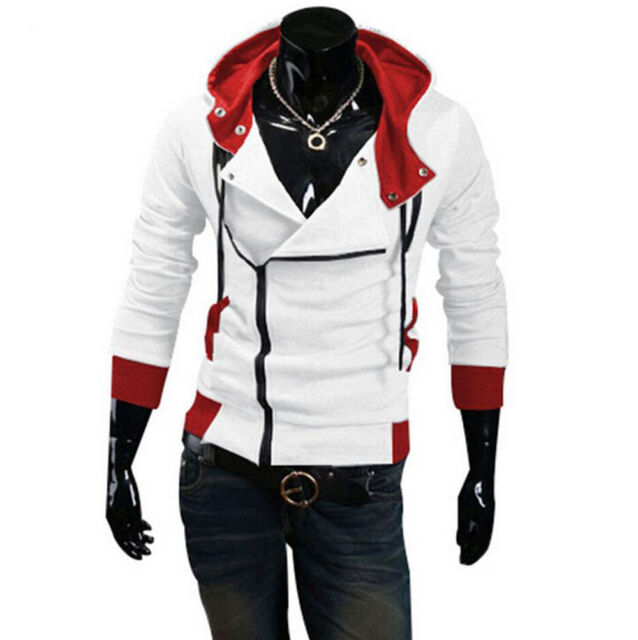 Hot !  Stylish Creed Hoodie men's Cosplay For Assassins Cool Slim Jacket Costume