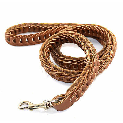 New Dog lead & leash - Hand Crafted Braided Real Leather Dog Leash Lead