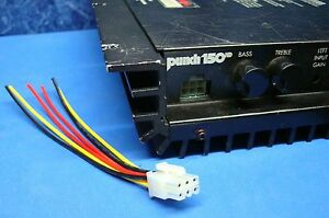 rockford fosgate punch amplifier 6 pin speaker wire harness plug rh ebay com rockford fosgate amplifier wiring kit rockford fosgate pbr300x4 wiring kit