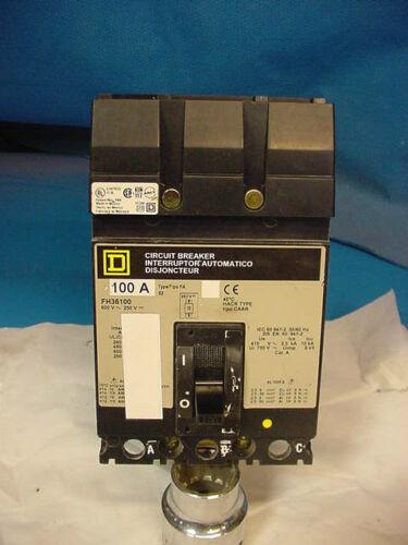 Square D Circuit Breaker FH36100 I Line 100 A 600 V