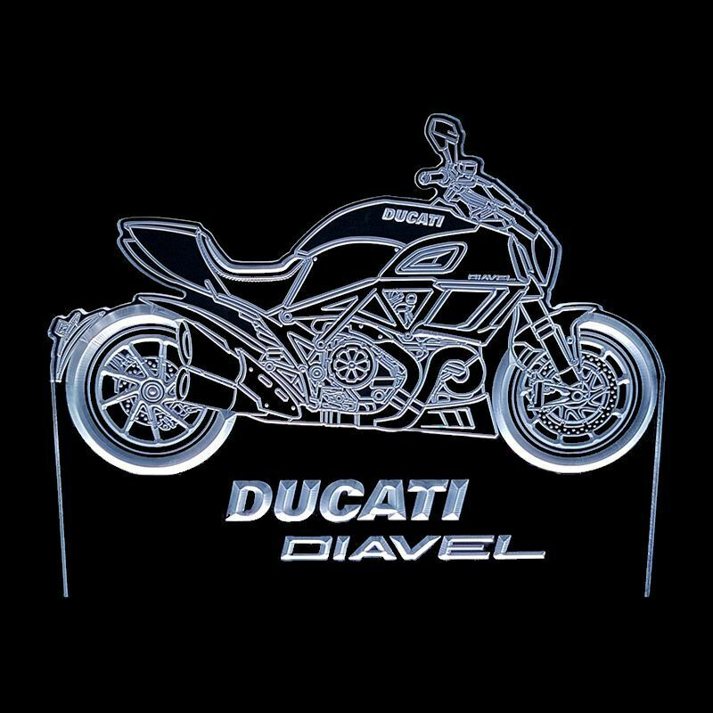 DUCATI DIAVEL - ACRYLIC LED SIGN