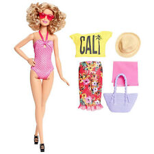 Barbie Glam Vacation Doll in Pink Polka Dot Swimsuit by Mattel (DGY76)