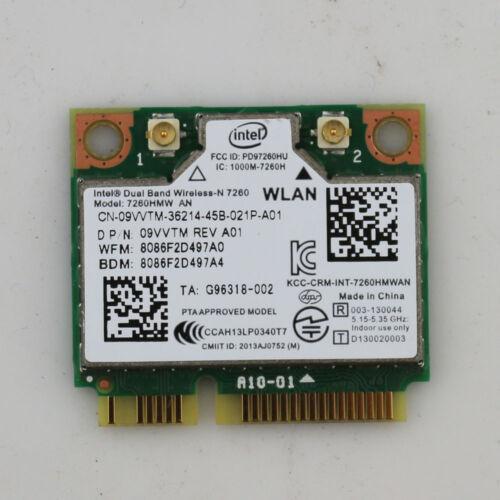 Intel Dual Band Wireless-n7260 Model 7260hmw to 802.11a//b//g//n 09vvtm BT 4.0