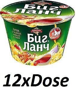 12x-034-Big-Lanch-034-bovina-FUNGHI-VERDE-spaghetti-istantanei