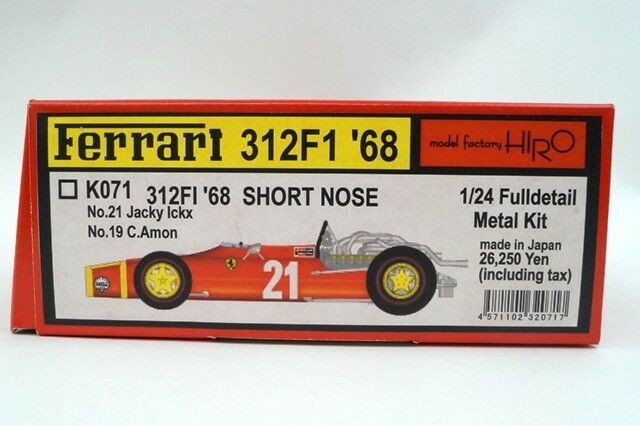 K071 Model Factory Hiro 1 24 Ferrari 312 1968 SHORT NOSE Model car Kits