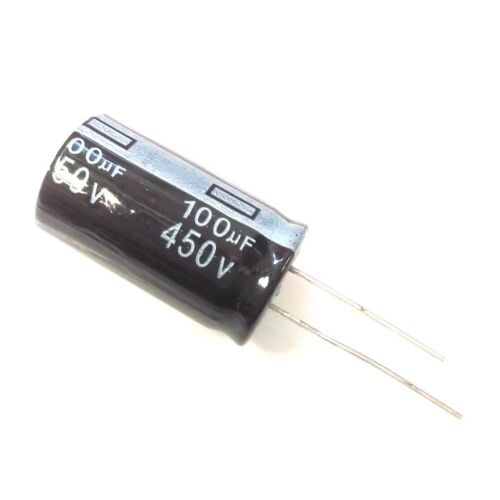 2.2uF~1000uF 10Values 450V 100uF 450Volt 100MFD Electrolytic Capacitor