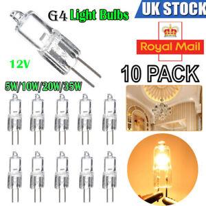 10pcs-G4-Halogen-Capsule-12V-Light-Bulbs-Replace-LED-Lamp-5W-10W-20W-35W-Bulb-UK