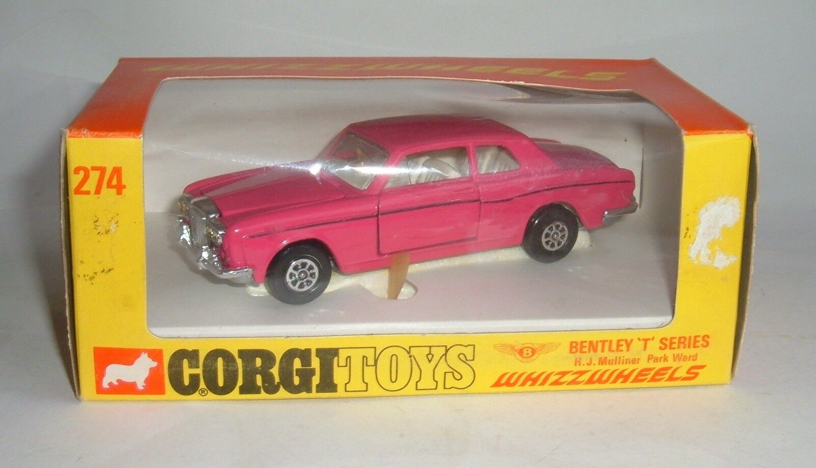 Corgi Toys No 274, BENTLEY  T  Série-WHIZZWHEELS-Superbe Comme neuf