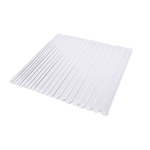 Reusable Wedding Birthday Party Clear Glass Drinking Straws Thick StrawsALUK