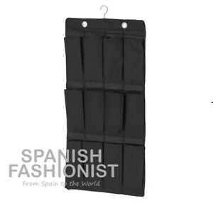 IKEA-SKUBB-Hanging-shoe-organiser-w-16-pockets-black