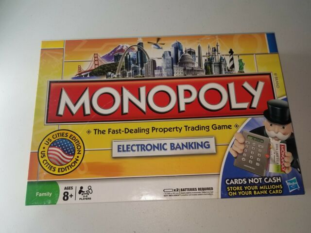 Hasbro Monopoly Electronic Banking Credit Card Edition Board Game New Open Box