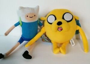 New Adventure Time Finn and Jake Set of 2 Licensed Plush Stuff Toys