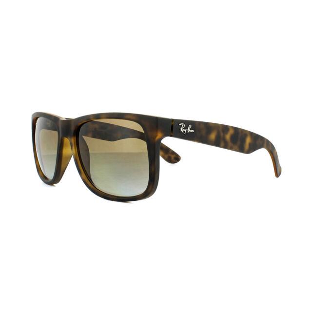 285d4e1a95a Ray-Ban Sunglasses Justin 4165 865 T5 Matt Havana Brown Gradient Polarized  Large