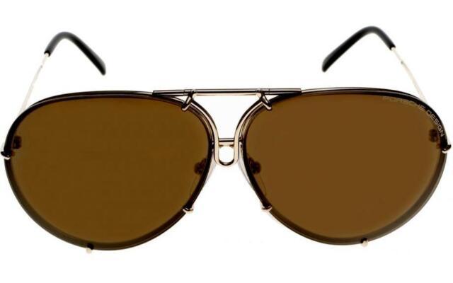 71d7fd5db36e Porsche Design Titanium Sunglasses P8478 A Light Gold - Unisex - Extra  Lenses