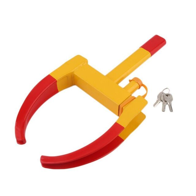 Car Tyre Wheel Clamp Lock Adjustable Trailer Security Anti-theft Claw Travel UK