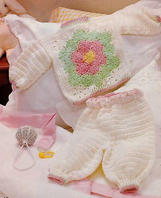 LOVELY Flower Garden Baby Layette/Crochet Pattern INSTRUCTIONS ONLY