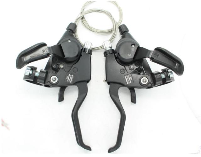 Schaltbremshebel V-Brake Set Bremshebel Schalthebel Fahrrad für Shimano Neu