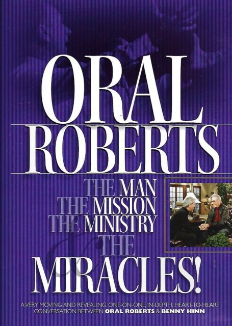 Oral Roberts The Man Mission Ministry Miracles 3 DVD Set Christian Benny  Hinn