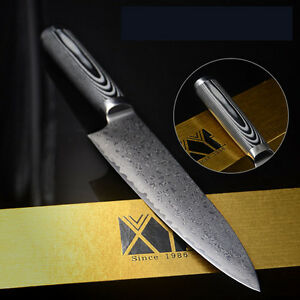 8 inch chef knife high end kitchen knife stainless steel damascus knives