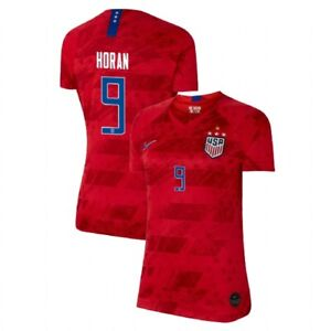 pretty nice 19651 d24b5 Details about NIKE LINDSEY HORAN 9 USA 2019 WORLD CUP 4 STAR WOMEN'S RED  WOMENS JERSEY PATCHES