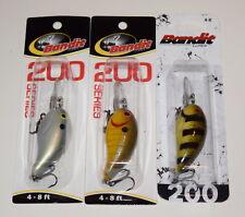 "Mixed Colors #2 Bandit 250 Ledge Series Crankbait Lures 3 -Bass Fishing-/""NEW/"""