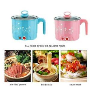 Multi-function Large Mini Electric Skillet Noodle Rice C Pan Pot Fa Cooking P7U5