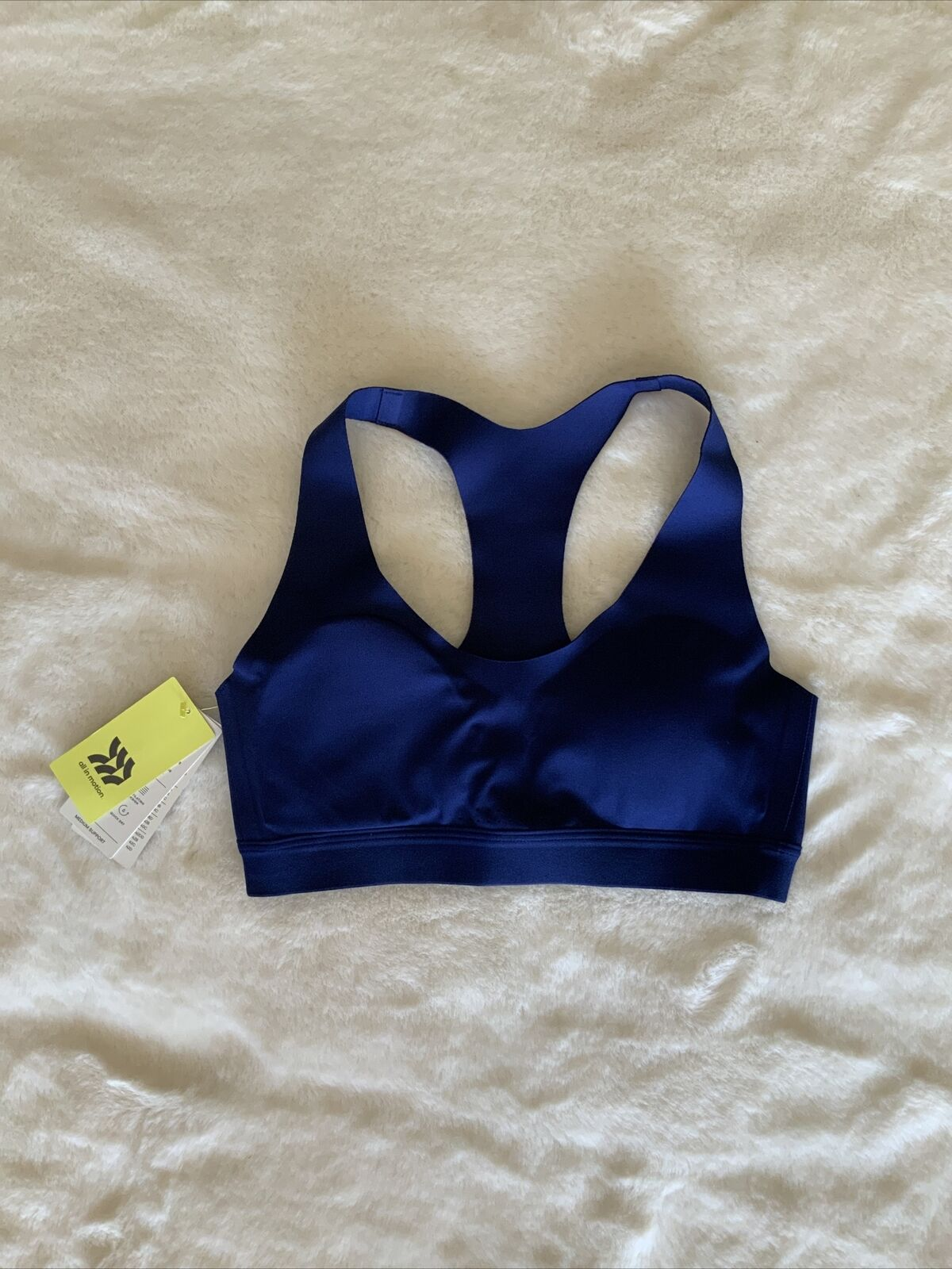 All In Motion Women's Medium Support Bonded Racerback Sports Bra Small Sapphire