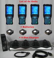 Lot (4) Symbol Motorola MC9090-SK0HJAFA6WR Wireless Barcode Scanner + CHARGER