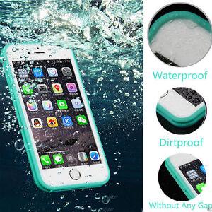 360-COMPLETO-Impermeable-Life-PROOF-suave-sintetico-Funda-para-Iphone-5-6-7-8