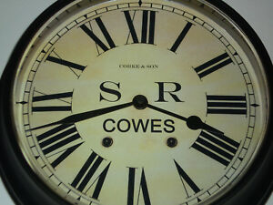 Southern Railway 1923 Style Waiting Room Clock Cowes Station, Isle of Wight