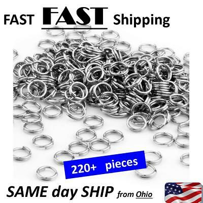 50 Pure Stainless Steel Hypo Allergenic Round Split Rings Double Ring Finding