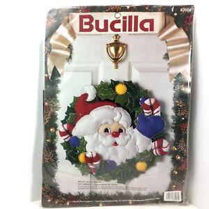 Felt Wreath Kit 83028 Bucilla Holly Jolly Santa