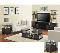 6 Piece Cherry Black Coffee Table Set Living Room Home Accent Furniture