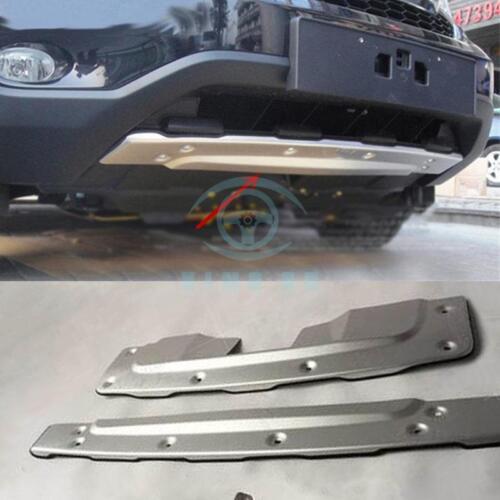 For Honda CRV 2010-2011 Aluminum Alloy Car 2x Front+Rear Bumper Protector Board