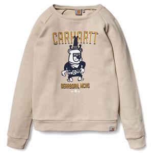 CARHARTT Cowbear Sweater Crewneck stone beige woman NEUWARE portofrei SALE M - L