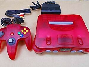 Nintendo-64-Clear-Red-Japanese-Console-Controller-cable-Japanese