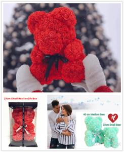 Rose-Teddy-Bear-Foam-Rose-Flower-Bear-Gift-For-Birthday-Wedding-Christmas-UK
