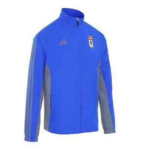 La imagen se está cargando Adidas-MT14-Real-Oviedo-FC-Pres-Chaqueta-2016- 42ff02ef6a337