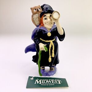 Creepy Hollow Midwest Of Cannon Falls Halloween Village Accessory Witch Owl NOS